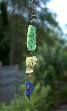 Suncatcher Glass Copper Handcrafted Sun Catcher