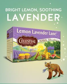 A perfect blend of tangy lemon and aromatic lavender. That's the magic of Celestial Seasonings. Fruit Drinks, Healthy Drinks, Beverages, Tea Recipes, Coffee Recipes, Tea And Crumpets, Flower Tea, My Tea, Refreshing Drinks