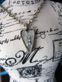 Small Gold Heart Pendant Necklace by MaggieMarieCreations on Etsy, $18.00