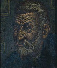 Κόντογλου Φώτης-Πορτρέτο Παπαδιαμάντη Street Art, Art Story, Modern Art, Greece, Fine Art, Portrait, Drawings, Artwork, Artist