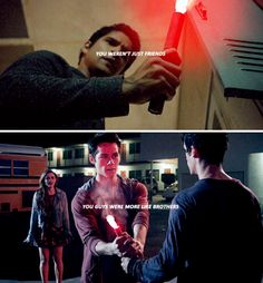"""Teen Wolf 6x09, 3x06 - """"He said you were getting an apartment together. And i reember saying something to Stiles. Something like 'It's not always a good idea to live with your friends. Even your best friend.' But Stiles said it wouldn't matter."""""""