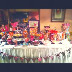 Sweet 16 candy bar....