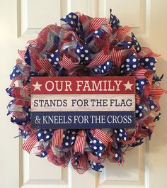of July Flag Wreath, Memorial Day Wreath, Labor Day Wreath, Military Wreath by TiraMercantile on Etsy Flag Wreath, Football Wreath, Patriotic Wreath, Patriotic Crafts, Military Wreath, Military Crafts, Fourth Of July Decor, 4th Of July Decorations, July 4th