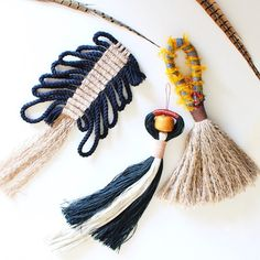One of a kind tassels HIMO ARt