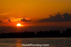The #sunset turns the sky burnt orange on Hutchinson Island, #Florida . #photos #travel #tourism