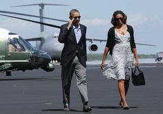 President Obama and First Lady Michelle Obama leave Homestead Air Reserve Base for DC
