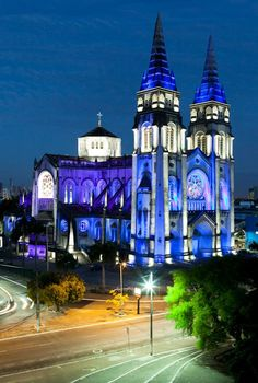 Catedral de #Fortaleza durante a noite.  Fortaleza's catholic cathedral at night. Brasil