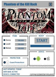 Phantom of the Kill Cheats, Hack, & Tips for Zenny, Lazuli, & Metals  #Action #PhantomoftheKill #RPG #Strategy http://appgamecheats.com/phantom-of-the-kill-cheats-hack-tips/