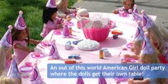 doll birthday party ideas | my party has graciously posted my daughter's American girl doll party ...