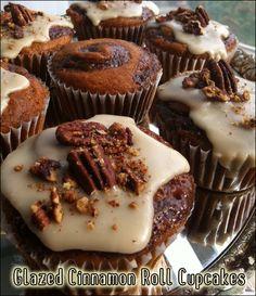 Vegan Glazed Cinnamon Roll Cupcakes
