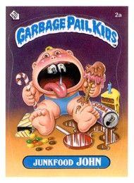 "Garbage Pail Kids Series 1 ""Ray Decay"" (pairs with Junkfood John) Caricatures, Garbage Pail Kids Cards, Cabbage Patch Kids Dolls, Kids Series, Winnie, Collector Cards, Kids Board, Kids Stickers, 80s Kids"