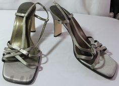 """JUST LIBBY"" SILVER GRAY STRAPPY SHOES SIZE 7.5 - PLEASE SEE ALL PICTURES #JUSTLIBBY #Strappy"