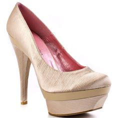 Just Fabulous's Beige Melaina - Champagne for 59.99 direct from heels.com