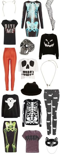 I only like the pumpkin shirt, the shirt that says creepy on it, & the cat ears headband.