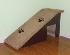 Dog Ramps. approx. 18 H x 14 W x 33 L. VOTED BEST NEW PRODUCT 2013! ST. LOUIS REVIEW MAGAZINE.  On Sale are these gorgeous 18 inch high pet ramps built specially for you cats and dogs.   *****IMPORTANT PLEASE READ********* 1). Carpet Colors are limited to neutral tans and grays only. Carpet colors CANNOT be guaranteed! 2). Molding or trim colors are limited to white or the color you choose for the base. For example: If you want a brown base, you can have white trim/molding or brown to ma...
