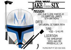Invitaciones de cumpleaños Star Wars