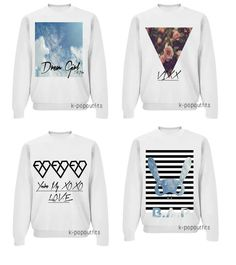 P and EXO sweater! Kpop Fashion, Asian Fashion, Fashion Outfits, Exo Sweater, Exo Merch, Kpop Clothes, Korean Products, Chinese Clothing, Other Outfits