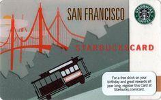 San Francisco Starbucks Card - 2010