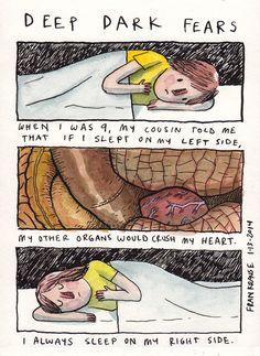 Fran Krause, Deep Dark Fears comic strip series, art