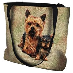 Holly Yorkshire Terrier Yorkie Dog Christmas Needlepoint