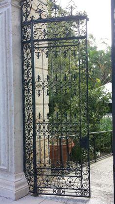 Rod Iron door at Vizcaya. I love dooooorrrrrs