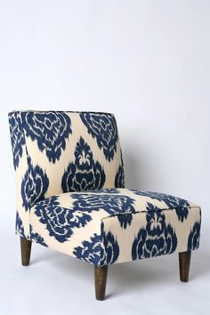 Slipper Chair, Indigo Ikat $329.00 Urban Outfitters