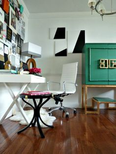 Love this office via Bliss at Home