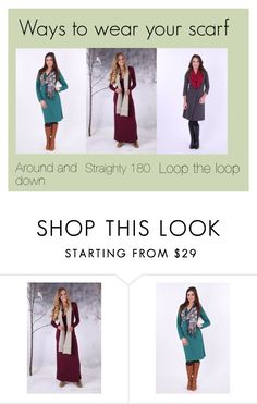"""Ways to wear your scarf"" by the-birdsnest-girls ❤ liked on Polyvore"