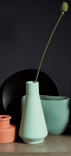 CB2的Seafoam绿色花瓶