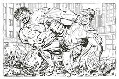 Superman vs Hulk by John Byrne