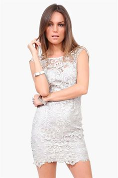 Starry Night Dress in Silver