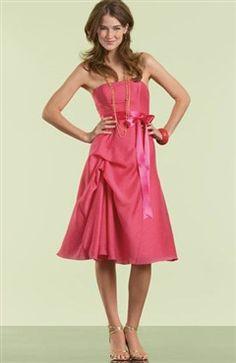 Sashes/ Ribbons Taffeta Knee-length Sleeveless Bridesmaid Dress