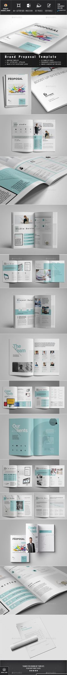 Proposal — InDesign INDD #brochure #template • Download ➝ https://graphicriver.net/item/proposal/18469738?ref=pxcr