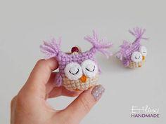 Cute Little Amigurumi Owl : Children necklace bookmark useful gift for little girl cute