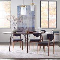 Graphica Dining Table - Oval (Hazelnut) | west elm