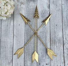 Gold Arrow Wall Hanging.Arrow Wall Art.Gold Home Décor.Arrow Nursery Décor.Tribal.Native American Metal Arrow.Bohemian Décor.Trendy Gold by LacyBellesBoutique on Etsy https://www.etsy.com/listing/243318685/gold-arrow-wall-hangingarrow-wall