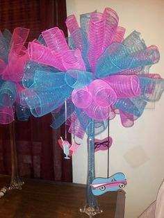 50's centerpiece for sweet sixteen party