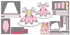Madoka Kaname ~Magical Dress~ Cosplay Design Draft by ~Hollitaima on deviantART