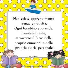 Le #emozioni permeano ogni #apprendimento del #bambino.