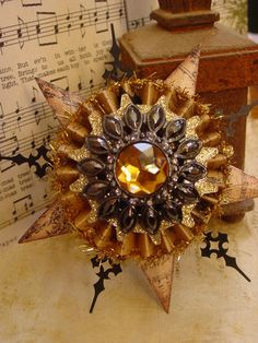 steampunk christmas ornaments | Altered Art Steampunk Style Assemblage by GardenSpellGhostTale