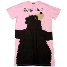 Bear Hug-Bear Pink Nightshirt by LazyOne, Pink, One Size ... http://a.co/iUUz1BM