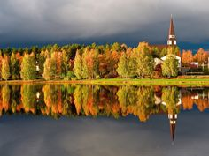 Rovaniemi church in autumn colours
