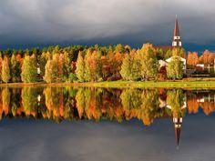 Rovaniemi church in autumn colours
