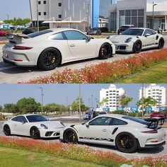 New Chalk 991.2 GT3 and Fashion Grey 991 GT3RS. Which do you prefer? 👌