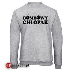 "Bluza męska z nadrukiem ""Bombowy chłopak""  #bluzaznadrukiem #bluza #chlopak #dzienchlopaka #bombowy #dlachlopaka #prezent Graphic Sweatshirt, Sweatshirts, Sweaters, Fashion, Moda, Fashion Styles, Trainers, Sweater, Sweatshirt"