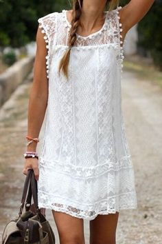 Cheap dress bachelorette party, Buy Quality dresses evening party directly from China dress up girls for kids Suppliers: 2015 Summer Women Vestidos Boho Embroidered Floral Bohemian Sexy Casual White Lace Crochet Beach Wear Mini Party Dres Bohemian Chic Fashion, Bohemian Mode, Bohemian Style, Beach Fashion, Ibiza Style Fashion, White Bohemian, Bohemian Summer, Modern Bohemian, Fashion Mode
