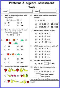 15 Best Patterns And Algebra Images On Pinterest Ense�anza De Las Math Worksheets Kindergradeners Pattern And Algebra Math Worksheet