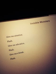 Invisible monsters essay
