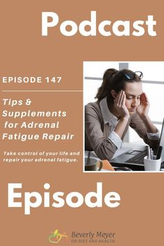 "Podcast: 10 Tips and Supplements for Adrenal Fatigue Repair- The correct supplements for adrenal fatigue changed my life more than once. My goal has always been to repair the adrenals, not just take things for fatigue.  I took rebuilding supplements and made changes in my life. Want more energy? REPAIR the Adrenals and Thyroid. Don't overcome ""fatigue"" with coffee or other stimulants. Here's some very personal tips and supplements for adrenal fatigue repair. Adrenal Glands, Adrenal Fatigue, Adrenal Health, Thyroid, Natural Health, Health Care, Goal, Paleo, Diet"