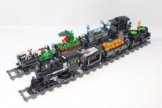 Halloween Train, Lego Halloween, Halloween Village, Lego Display, Lightning Rod, Lego Trains, Lego Projects, Everything Is Awesome, Lego Technic